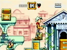 In game image of Lucky Luke: The Video Game on the Philips CD-i.