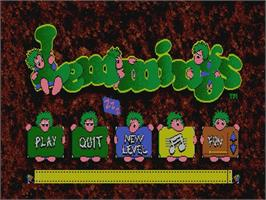 Title screen of Lemmings on the Philips CD-i.