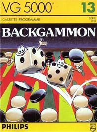 Box cover for Backgammon on the Philips VG 5000.