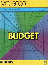 Box cover for Budget on the Philips VG 5000.