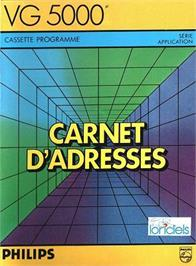 Box cover for Carnet D'Adresses on the Philips VG 5000.
