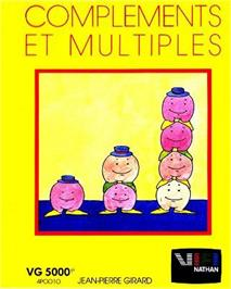 Box cover for Complements Et Multiples on the Philips VG 5000.