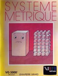 Box cover for Systeme Metrique on the Philips VG 5000.
