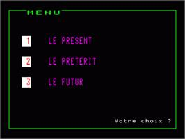 In game image of Anglais Volume 2 on the Philips VG 5000.