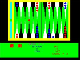 In game image of Backgammon on the Philips VG 5000.