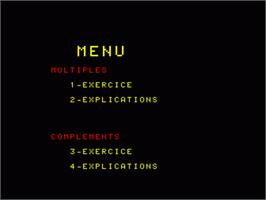 In game image of Complements Et Multiples on the Philips VG 5000.