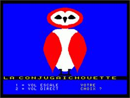 In game image of Conjugaichouette, La on the Philips VG 5000.
