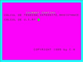 In game image of Current Continu on the Philips VG 5000.