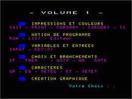 In game image of Decouverte Du Basic - Volume 1 on the Philips VG 5000.