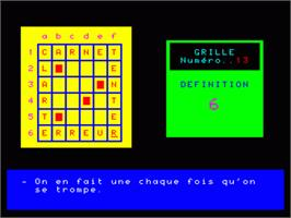 In game image of Mes Premiers Mots Croises - Volume 2 on the Philips VG 5000.