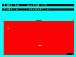 In game image of Submarine on the Philips VG 5000.
