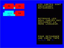 In game image of Systeme Metrique on the Philips VG 5000.