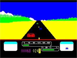In game image of Us Rallye on the Philips VG 5000.