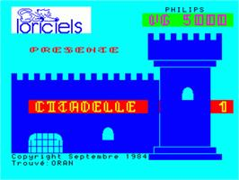 Title screen of Citadelle on the Philips VG 5000.