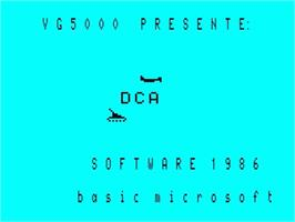 Title screen of DCA on the Philips VG 5000.