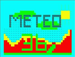 Title screen of Meteo 36 on the Philips VG 5000.