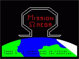 Title screen of Mission Omega on the Philips VG 5000.