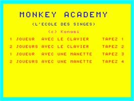 Title screen of Monkey Academy on the Philips VG 5000.