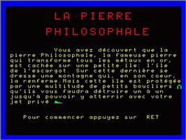 Title screen of Pierre Philosophale, La - Chapter 1 on the Philips VG 5000.