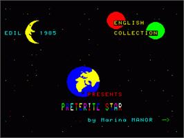Title screen of Preterite Star on the Philips VG 5000.