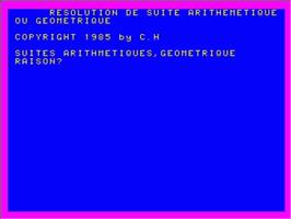 Title screen of Resolution De Suite on the Philips VG 5000.