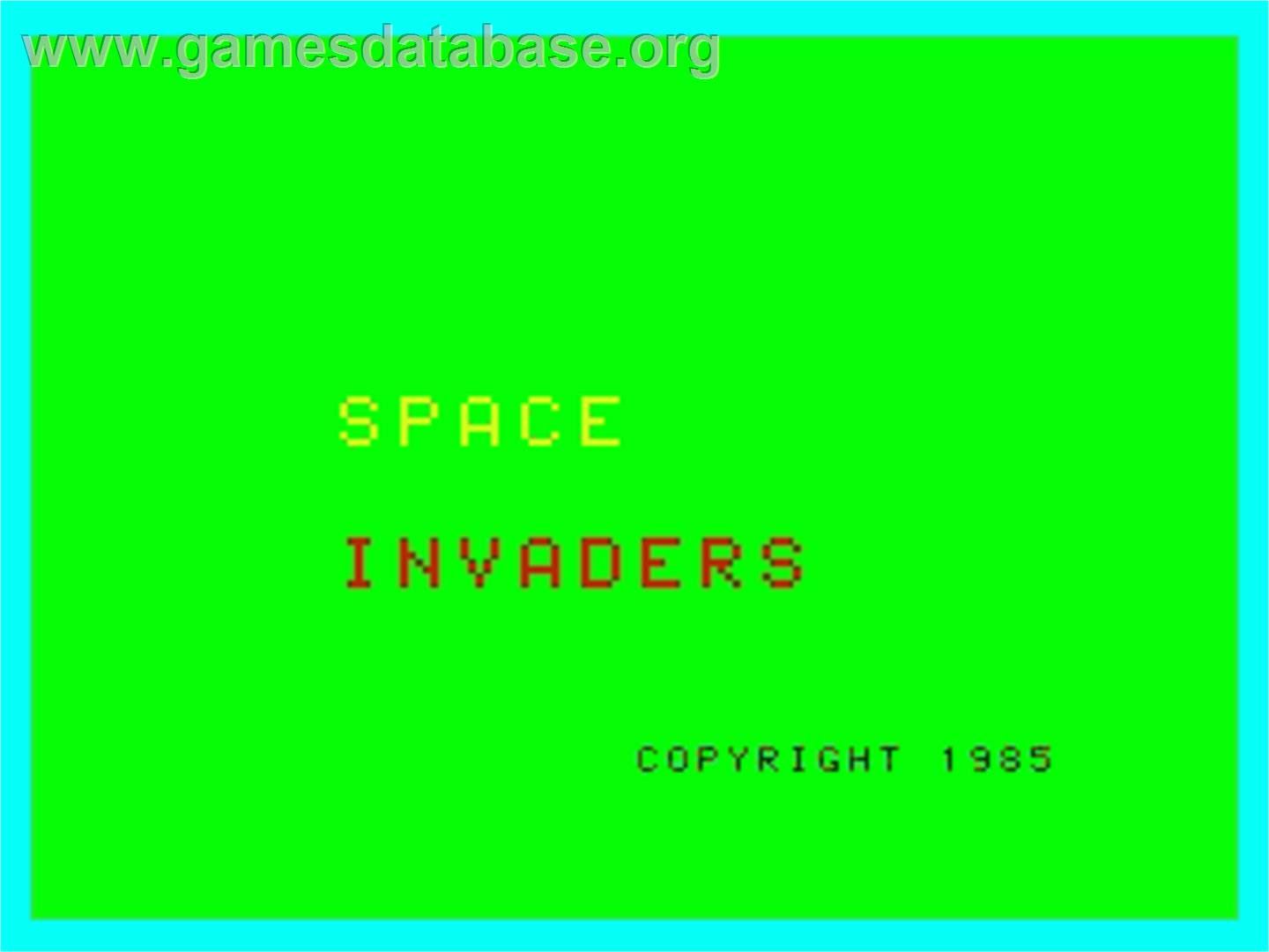 Space Invaders - Philips VG 5000 - Artwork - Title Screen