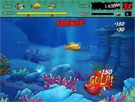 In game image of Feeding Frenzy Deluxe on the PopCap.