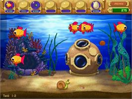 In game image of Insaniquarium Deluxe on the PopCap.