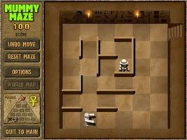 In game image of Mummy Maze Deluxe on the PopCap.
