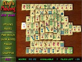 In game image of NingPo MahJong Deluxe on the PopCap.