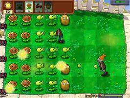 In game image of Plants vs Zombies on the PopCap.