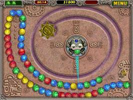 In game image of Zuma Deluxe on the PopCap.