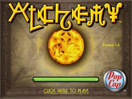 Title screen of Alchemy Deluxe on the PopCap.