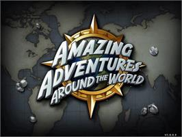 Title screen of Amazing Adventures Around The World on the PopCap.