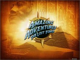 Title screen of Amazing Adventures The Lost Tomb on the PopCap.
