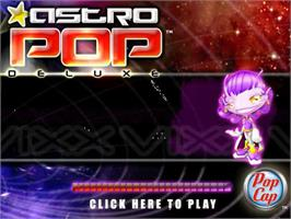 Title screen of AstroPop Deluxe on the PopCap.