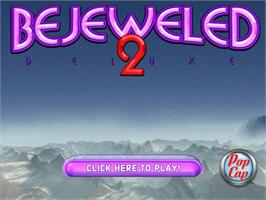 Title screen of Bejeweled 2 Deluxe on the PopCap.