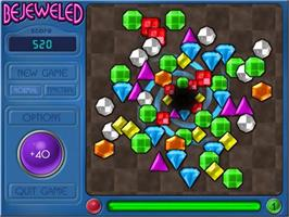 Title screen of Bejeweled Deluxe on the PopCap.