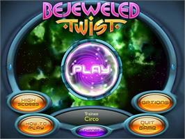 Title screen of Bejeweled Twist on the PopCap.