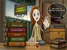 Title screen of Bonnie's Bookstore Deluxe on the PopCap.