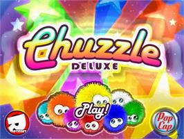 Title screen of Chuzzle Deluxe on the PopCap.