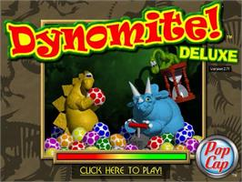 Title screen of Dynomite Deluxe on the PopCap.
