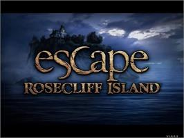 Title screen of Escape Rosecliff Island on the PopCap.