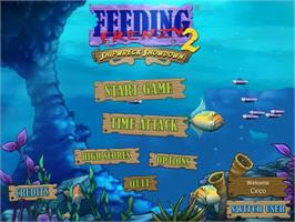 Title screen of Feeding Frenzy 2 Deluxe on the PopCap.