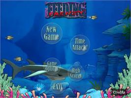 Title screen of Feeding Frenzy Deluxe on the PopCap.