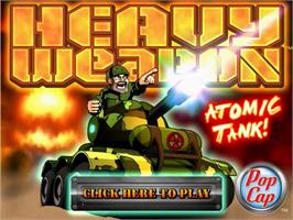 Title screen of Heavy Weapon Deluxe on the PopCap.