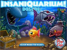 Title screen of Insaniquarium Deluxe on the PopCap.