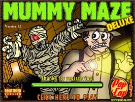 Title screen of Mummy Maze Deluxe on the PopCap.