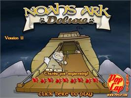 Title screen of Noah's Ark Deluxe on the PopCap.