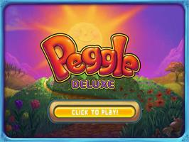 Title screen of Peggle Deluxe on the PopCap.